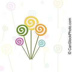 swirls, geitjes, kleurrijke, illustratie, vector, achtergrond