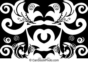 swirls pattern - digital illustration of swirls and scrolls...