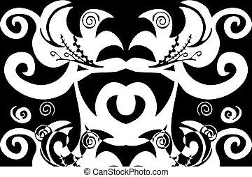 swirls pattern - digital illustration of swirls and scrolls ...