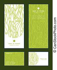swirls, sæt, tak, vertikal, mønster, hils, tekstur, vektor,...