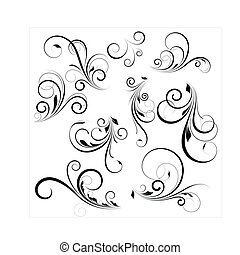 swirls, vector