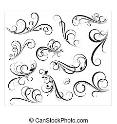 swirls, vectors