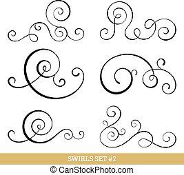swirls, verzameling, calligraphic