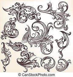 swirls.eps, vetorial, flourishes, cobrança