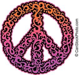 swirly, シンボル, 平和