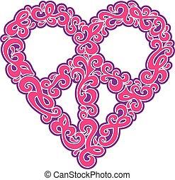swirly, 心, 平和