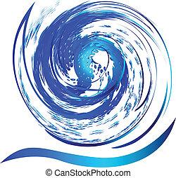 swirly, 水, 波浪, 飛濺, 標識語