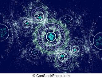 swirly, abstrakt, fractal, hintergrund