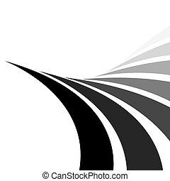 swirly, abstrakt, layout