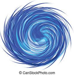 swirly, abstraktní, ikona, emblém