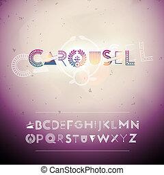 swirly, alfabet