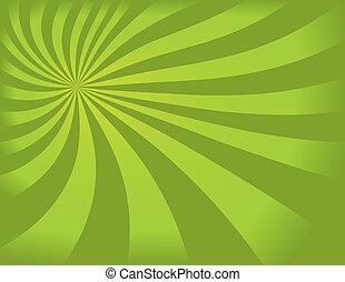 swirly, arrière-plan vert