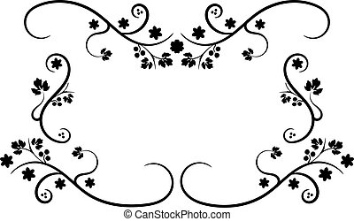 Swirly black frame in ornament style
