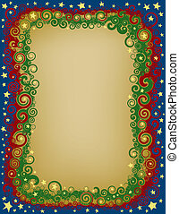 Swirly Christmas Eve Border - A border made of interwoven...