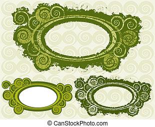 Swirly Circle Frames