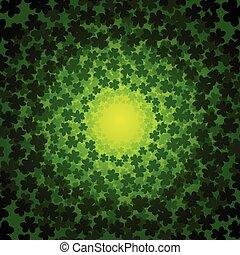 Swirly clover background