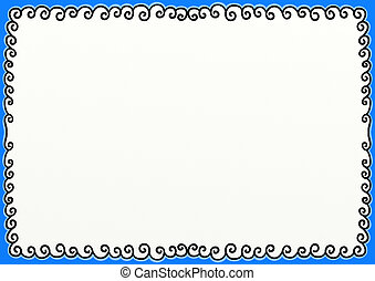 Swirly Doodle Border Page Decoration