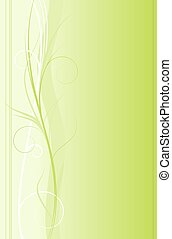 Swirly floral green background - Abstract ornate background...