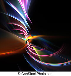 Swirly Fractal Swoosh Layout - A glowing fractal design that...