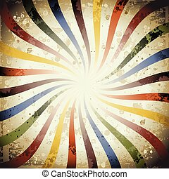 Psychedelic swirly grunge sunburst, very useful for your design.