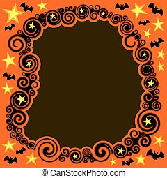 Swirly Halloween Border