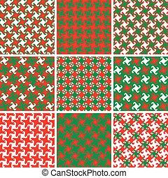 Swirly Holiday Patterns