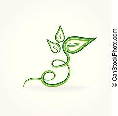Swirly leaf vector