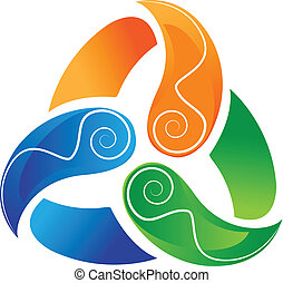 swirly, logotipo, abstratos, ecológico