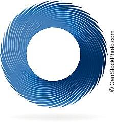 swirly, logotipo, onda