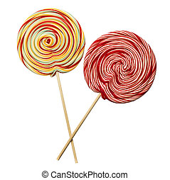 Swirly lollipop isolated on white