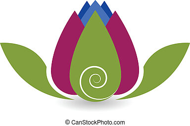 swirly, lotus bloem, yoga, logo
