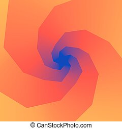 Swirly spiral colorful rainbow background. Vector illustration
