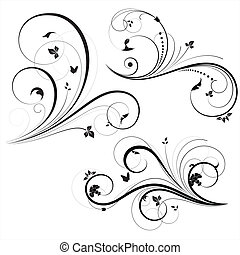 swirly, vectors