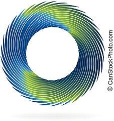 Swirly wave icon logo
