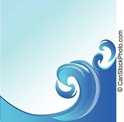 Swirly waves template