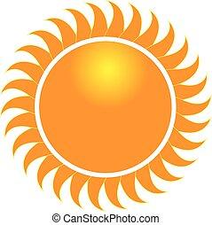 swirly, zonnestralen, pictogram, logo