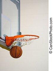 Swish - Ball swishes through the hoop
