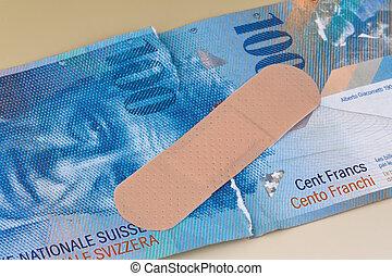 swiss 1프랑 화폐