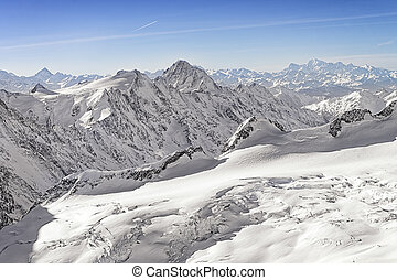 Swiss alpine highland landscape panorama