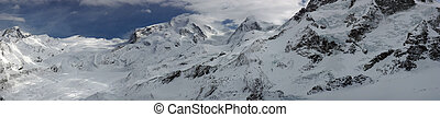 Swiss alpine panorama