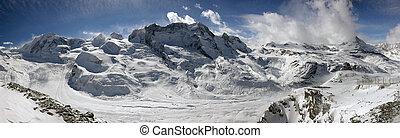 Swiss alpine panorama