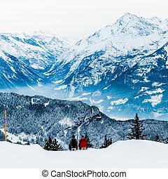 swiss alps, 冬