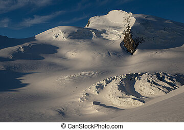 Swiss alps in the morning light
