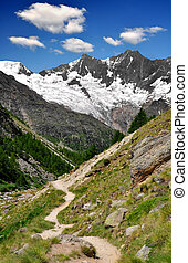Swiss alps - The Mischabel group - Swiss alps