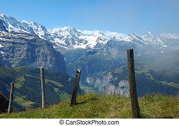 Swiss Alps - Lauterbrunnen valley in the Swiss Bernese...