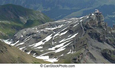 View of the Swiss Bernese Alps, Schilthorn summit.