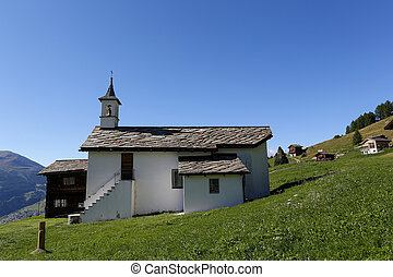 Swiss catholic church in the Alps