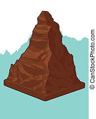 Swiss Chocolate in Matterhorn shape - A vector image of a...