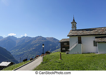 Swiss church in the Alps