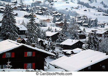 Swiss Cottages - Cottages at the Swiss Alps of the Jungfrau...